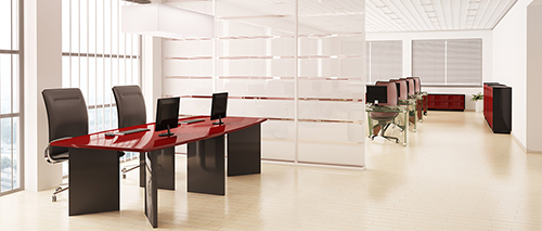 helles modernes büro nach der büroreinigung