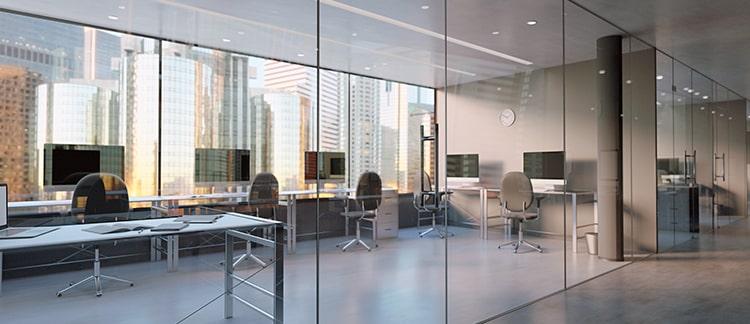 Foto eines Büroraumes